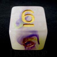 TDSO Opalescence Yellow & Purple D6 Dice
