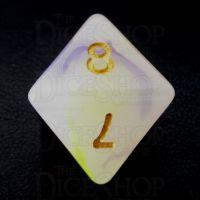 TDSO Opalescence Yellow & Purple D8 Dice