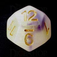 TDSO Opalescence Yellow & Purple D12 Dice