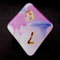 TDSO Opalescence Dark Blue & Purple D8 Dice