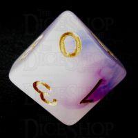 TDSO Opalescence Dark Blue & Purple D10 Dice