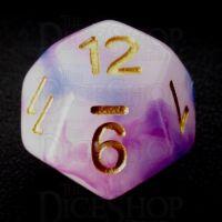 TDSO Opalescence Dark Blue & Purple D12 Dice