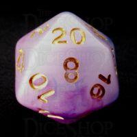 TDSO Opalescence Dark Blue & Purple D20 Dice