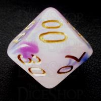 TDSO Opalescence Dark Blue & Purple Percentile Dice