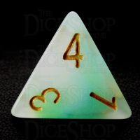 TDSO Opalescence Blue & Green D4 Dice