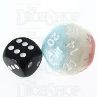 Impact Cotton Candy & White D28 Dice