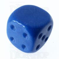 TDSO Opaque Blue Blank Faced Uninked D6 Spot Dice