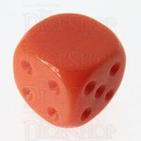 TDSO Opaque Orange Blank Faced Uninked D6 Spot Dice