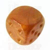 TDSO Pearl Gold Blank Faced Uninked D6 Spot Dice