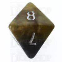 Halfsies Pearl DaVinci Black & Gold Mona Lisa Inspired D8 Dice