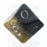 Halfsies Pearl DaVinci Black & Gold Mona Lisa Inspired D10 Dice