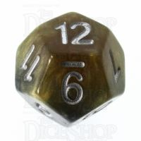 Halfsies Pearl DaVinci Black & Gold Mona Lisa Inspired D12 Dice