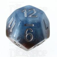 Halfsies Pearl Earth Elemental Cerulean Blue & Terran Brown D12 Dice