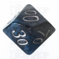 Halfsies Pearl Earth Elemental Cerulean Blue & Terran Brown Percentile Dice