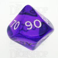 D&G Gem Purple Percentile Dice
