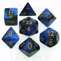 Chessex Gemini Black & Blue 7 Dice Polyset