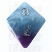 Halfsies Pearl Psionic Combat Violet & Cyan D8 Dice