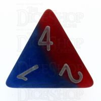 Halfsies Pearl Spider Red & Heroic Blue D4 Dice