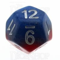 Halfsies Pearl Spider Red & Heroic Blue D12 Dice
