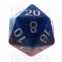 Halfsies Pearl Spider Red & Heroic Blue D20 Dice