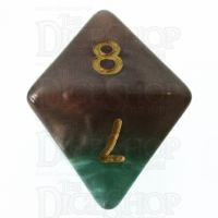 Halfsies Pearl Treant Forest Green & Bark Brown D8 Dice