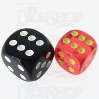 Role 4 Initiative Translucent Red & Gold 14mm D6 Spot Dice