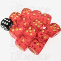 Role 4 Initiative Translucent Red & Gold 12 x D6 18mm Dice Set
