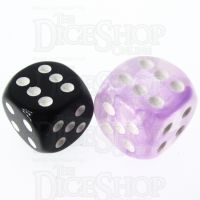 Role 4 Initiative Diffusion Amethyst & White 18mm D6 Spot Dice