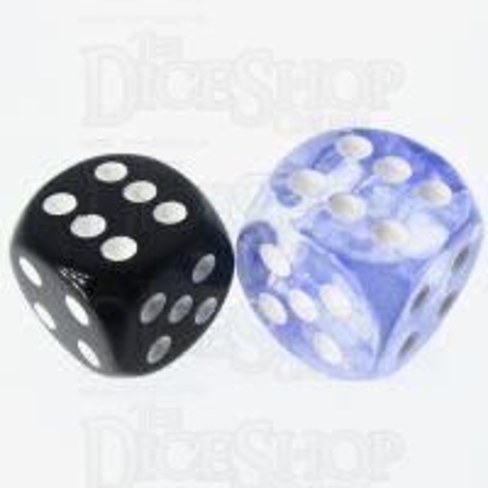 Role 4 Initiative Diffusion Sapphire & White 18mm D6 Spot Dice