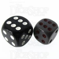 Role 4 Initiative Opaque Grey & Red 14mm D6 Spot Dice