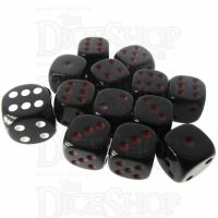 Role 4 Initiative Opaque Black & Red 12 x D6 14mm Dice Set