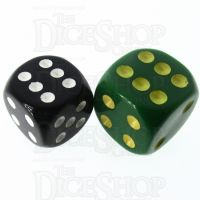 Role 4 Initiative Opaque Green & Gold 18mm D6 Spot Dice