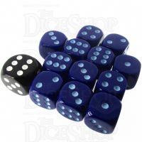 Role 4 Initiative Opaque Blue & Blue 12 x D6 14mm Dice Set