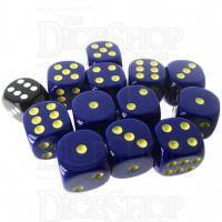 Role 4 Initiative Opaque Blue & Gold 12 x D6 18mm Dice Set