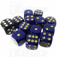 Role 4 Initiative Opaque Blue & Gold 12 x D6 14mm Dice Set