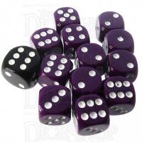 Role 4 Initiative Opaque Purple & White 12 x D6 14mm Dice Set