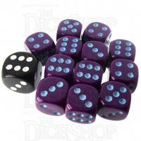 Role 4 Initiative Opaque Purple & Blue 12 x D6 14mm Dice Set