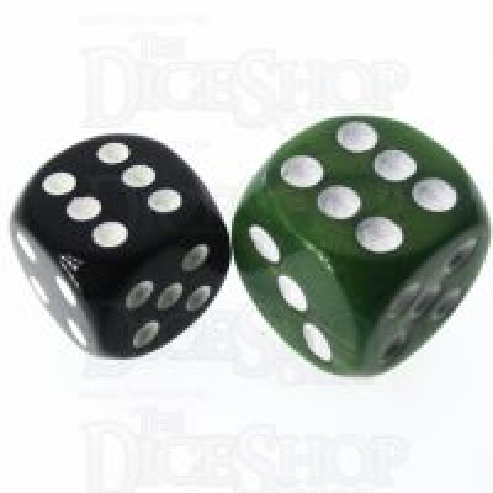 Role 4 Initiative Emerald Dragon 18mm D6 Spot Dice