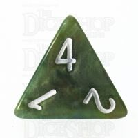 TDSO Marbleised Green & Gold D4 Dice