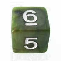 TDSO Marbleised Green & Gold D6 Dice