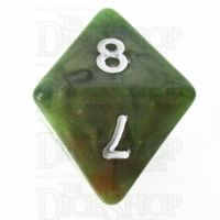 TDSO Marbleised Green & Gold D8 Dice