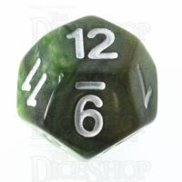 TDSO Marbleised Green & Gold D12 Dice
