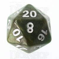 TDSO Marbleised Green & Gold D20 Dice