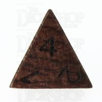 TDSO Rosewood Wooden D4 Dice