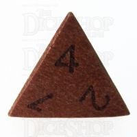 TDSO Red Sandalwood Wooden D4 Dice