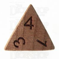 TDSO Cherry Wooden D4 Dice