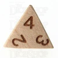 TDSO Beech Wooden D4 Dice