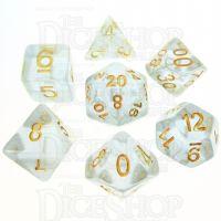 TDSO Iridescent Glitter Blue 7 Dice Polyset