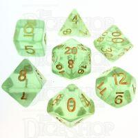 TDSO Iridescent Glitter Green 7 Dice Polyset