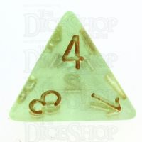 TDSO Iridescent Glitter Green D4 Dice
